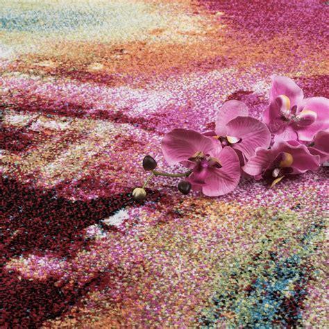 teppich bunt designer teppich bunt leinwand optik splash mutlicolour