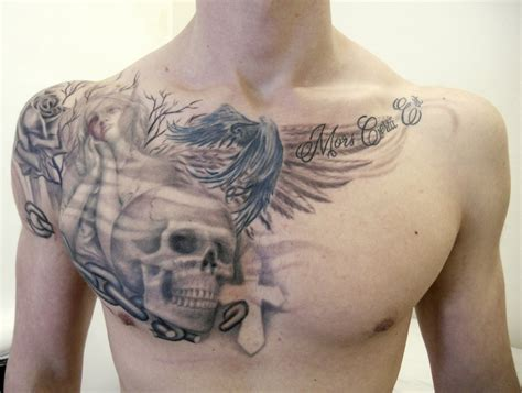 tattoo ideas for your chest 51 skull tattoos for men and women inspirationseek com