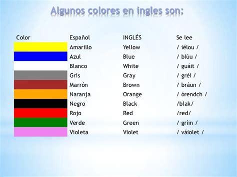 imagenes de colores en ingles y español los colores en ingles