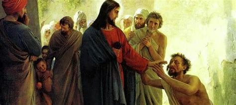 Jesus Heals The Blind Man Craft Prayers For The Sick Saintland