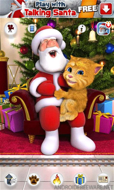 download youtube gingerbread talking santa meets ginger free android app android freeware