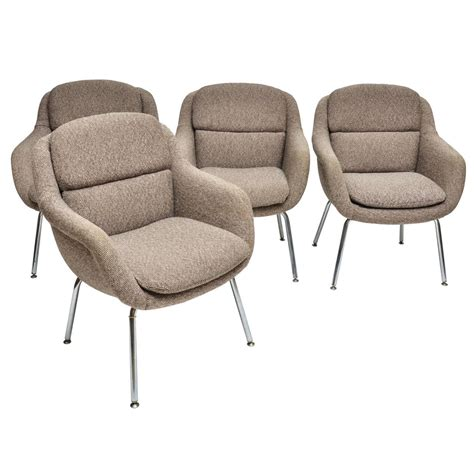 upholstered armchairs for sale mid century modern set of four upholstered dining