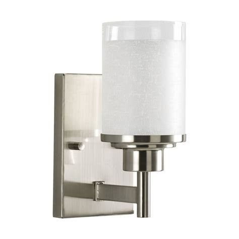 modern bathroom sconce progress modern sconce wall light with white glass p2959