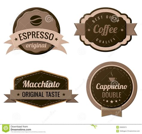 Coffee Vintage Labels Stock Vector Image Of Design Retro 29063675 Coffee Label Design Template