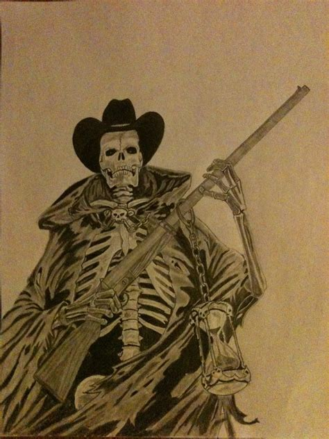 dead cowboy tattoo pictures to outlaw cowboy skeleton cowboy grim by kolwdwrkr