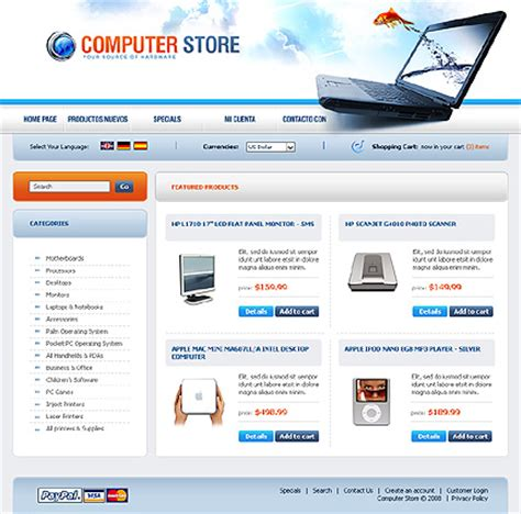 computer website templates free computer support computer support template website