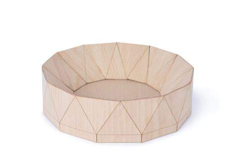 Folded Paper Bowl - folded wooden objects for the home design milk