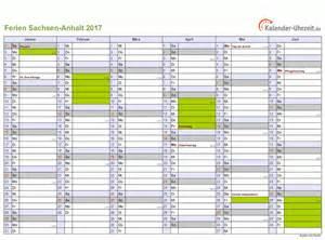 Kalender 2018 Mit Ferien Sachsen Ferien Sachsen Anhalt 2017 Ferienkalender Zum Ausdrucken
