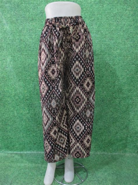Celana Harian Bahan Katun celana kulot motif obralanbaju obral baju pakaian