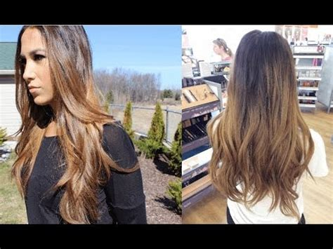 how to balayage ombre highlights at home