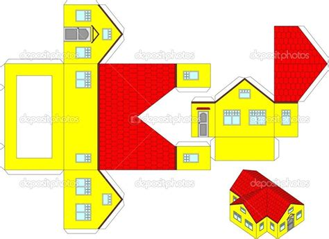 printable paper crafts printable house 3d printable 3d paper craft of a house