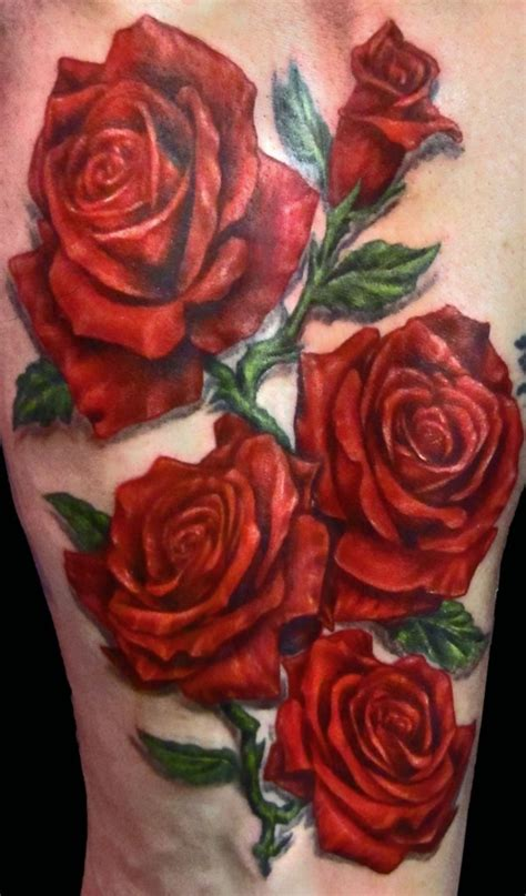 rose tattoo realistic roses realistic how do they do that