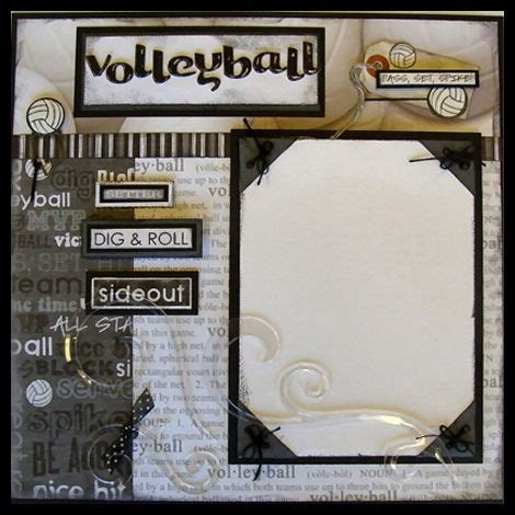 scrapbook layout ideas for volleyball pin by kim day chaffee on sports pinterest