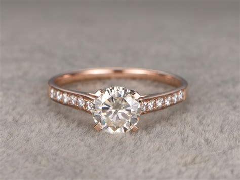 Moissanite 1 65 Ct 1ct brilliant moissanite engagement ring gold