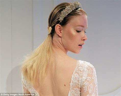 new york city hairstyles new york city s bridal fashion week sees wedding dresses