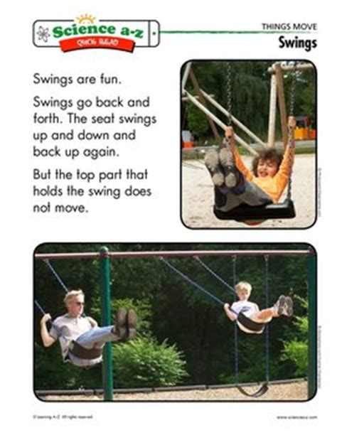 swing and move science a z things move grades k 2 physical science unit