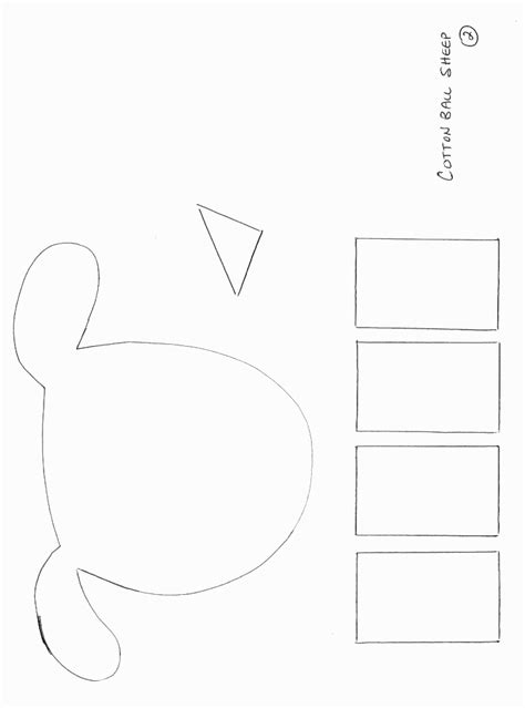 craft templates printable sheep templates cotton balls search results