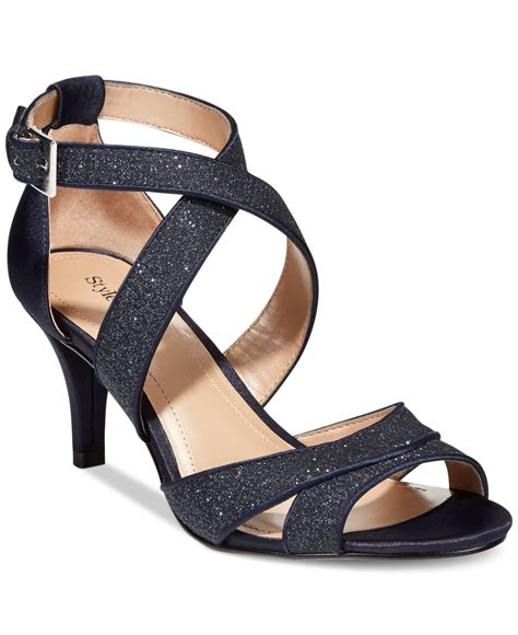 lyst style co style co pravati strappy evening sandals in blue