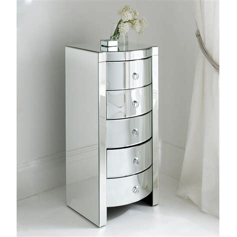 Mirrored Tallboy Chest Of Drawers by Florence Mirrored Tallboy Chest