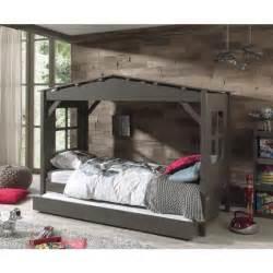 lit enfant quot cabane quot home tiroir de lit gris prix