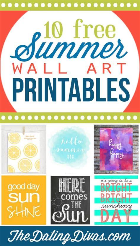 free printable summer wall art 101 free summer printables