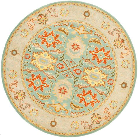 10 ft rug safavieh heritage light blue ivory 10 ft x 10 ft