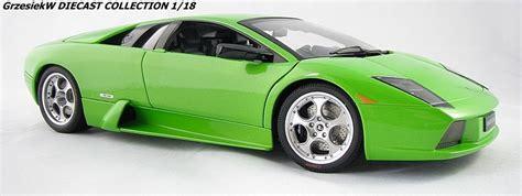 Metallic Green Lamborghini Lamborghini Murcielago Metallic Green Autoart No 74514