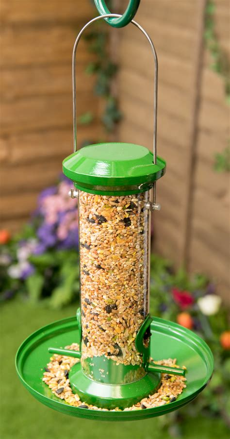 metal seed catcher tray  bird feeder  red barn