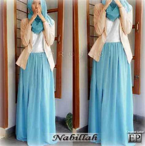 Dress Korea Ori baju gamis nabillah maxi g 628 busana muslim blazer remaja