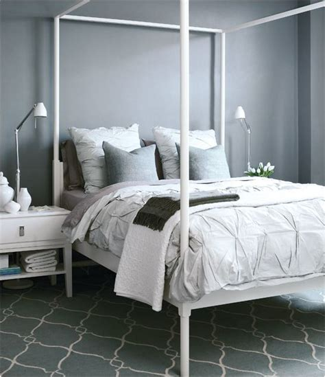 ikea four poster bed with 201 clectique chambre d 233 coration white four poster bed styleathome jpg
