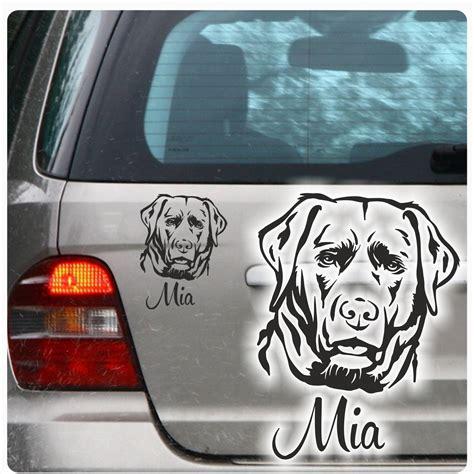 Auto Aufkleber Labrador by Autoaufkleber Labrador Name Auto Aufkleber Sticker Hund