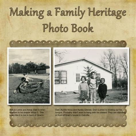 building a family books how to make a family heritage genealogy photo book with