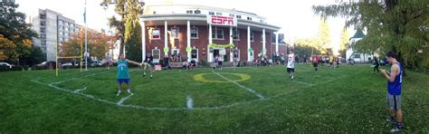 backyard football field total frat move beta theta pi at the university of oregon turning their backyard