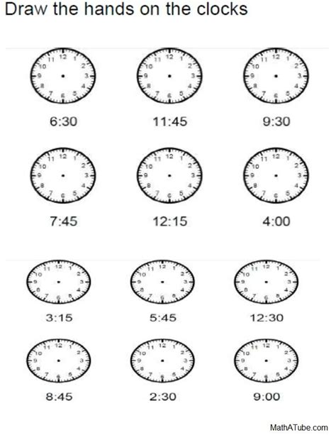 printable clock worksheets telling time printables on pinterest telling time
