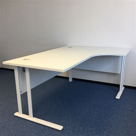White Corner Desk With Pedestal Office Kit White Corner Desk Uk