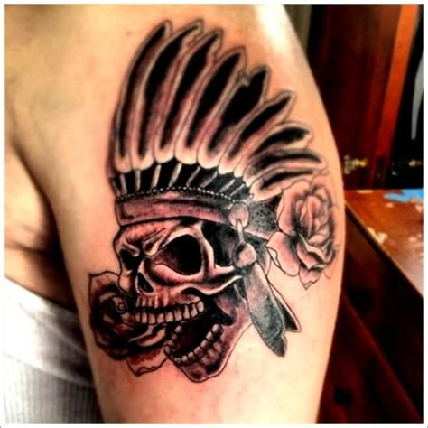 26 indian chief sleeve tattoos