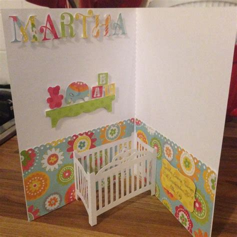 Pop Up Crib Card Template by Craft Chatterbox Craft Chatterbox