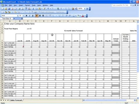 Forecast Spreadsheet Template by Sales Forecast Template Images