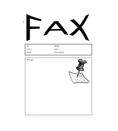 generic fax cover sheet  fax cover sheet template