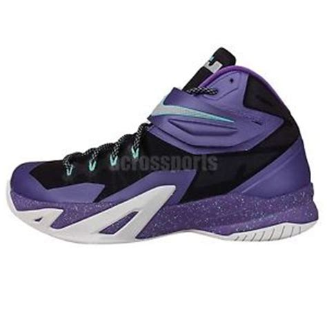 hornets basketball shoes nike zoom soldier viii 8 hornets purple lebron 2014