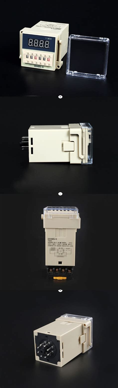 Digital Timer On Delay Omron Dh48s 1z dh48s s digital timer time delay relay 110v 220v 380v ac