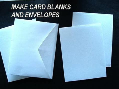 How To Make A Card Envelope Out Of Paper - make card blanks and envelopes how to diy greeting cards