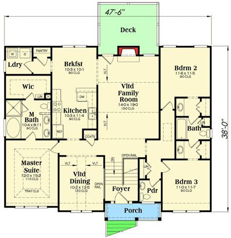 california split floor plan 3 bed split level house plan 75430gb 1st floor master