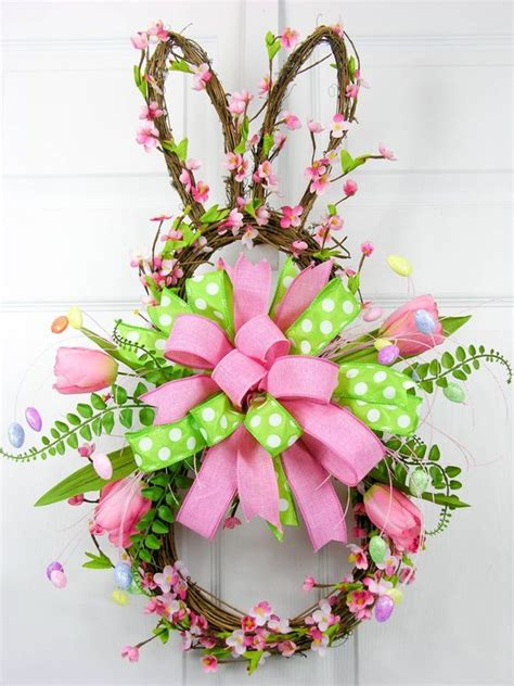 blossom bunny wreath pink sold out cherry blossoms