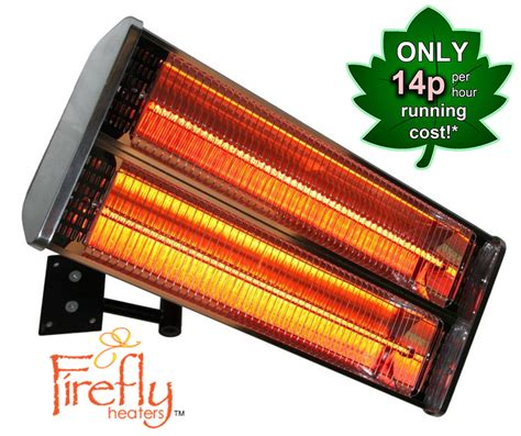 Electric Patio Heaters Uk 2kw Wall Mounted Halogen Bulb Electric Infrared Patio Heater 2 Heating Elements By Firefly 163
