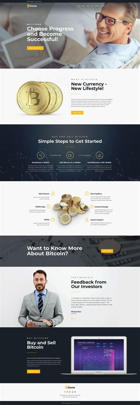 Bitcoin Cryptocurrency Website Template Cryptocurrency Html Template Free