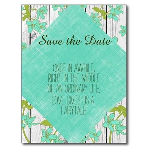 quot sweetest day postcard quot rustic wood and floral with quote save the date