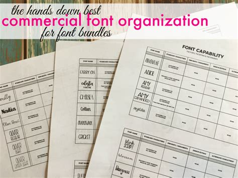 how to organize your silhouette library changing way to organize commercial fonts silhouette school