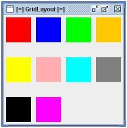 grid layout exle in java swings the guidebook swing tutorials