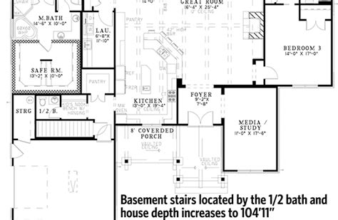 brick ranch house plan 68011hr 1st floor master suite rustic brick ranch home with sunroom 60603nd 1st floor